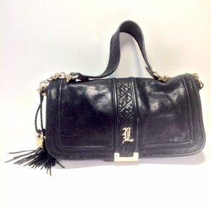 L.A.M.B. Leather Flap Shoulder Bag